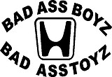 Bad Ass Boys Drive Bad Ass Toys, Vinyl cut decal