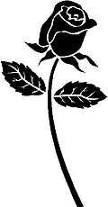 Long Stem Rose, Vinyl cut decal