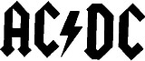 AC DC , Vinyl cut decal