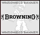 Browning, Windshield Banner