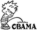 CALVIN PEEING ON OBAMA