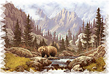Bear Scene RV Mural for the back of your RV by the Square Foot