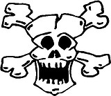 Skull and cross bones, Vinyl cut decal