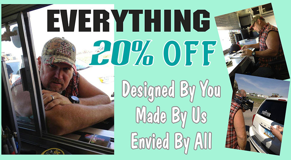 Everything 20% off
