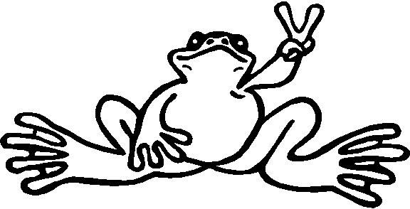 Peace frog vinyl cut decal Coloring book vinyl