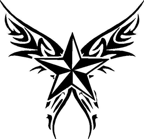 Nautical Star with wings Vinyl decal sticker