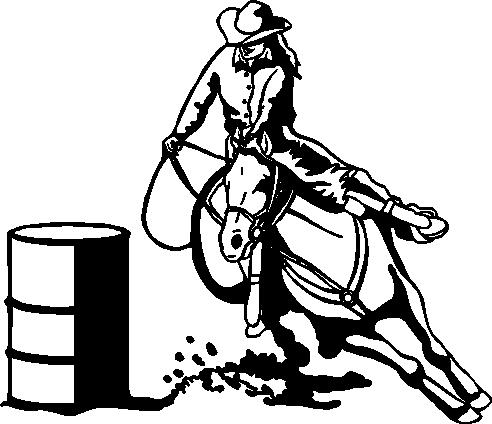 Barrel Racing Logos Barrel racing, vinyl cut decal
