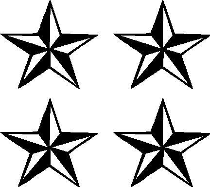 Nautical Stars Vinyl decal sticker