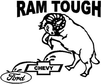 Ford Peeing on Chevy Sticker http://www.decalguy.com/pd-dodge-ram-tough-a-ram-peeing-on-chevy-and-ford-vinyl-cut-decal.cfm