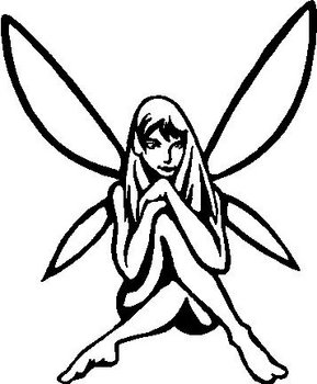 Fairy Girl, Vinyl cut decal