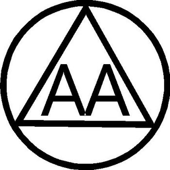 Alcoholic Anonymous symbol, AA, Vinyl decal sticker