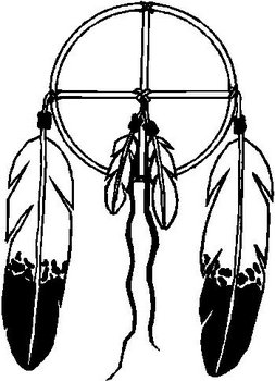 Dream Catcher with Eagle feathers, Vinyl cut decal