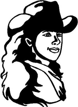 Cowgirl, Vinyl Cut Decal