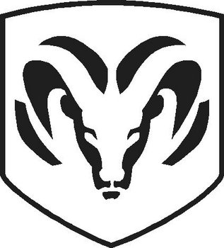 Dodge Ram Head, Vinyl cut decal