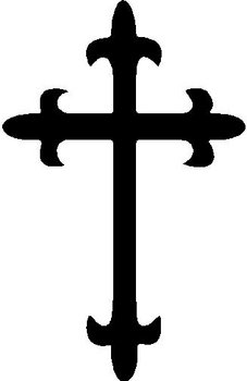 Cross, Vinyl decal sticker