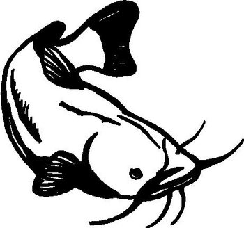 Cat fish, Vinyl decal sticker