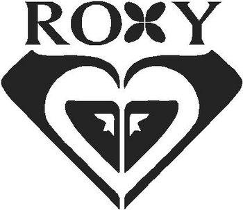 roxy heart vinyl decal sticker