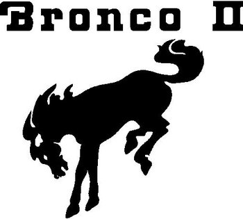 Ford Bronco 2, With a Horse, Vinyl cut decal