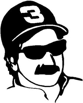 Dale Earnhardt, number 3, Vinyl cut decal