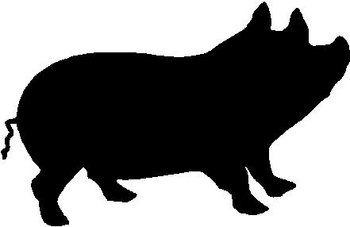 Big Fat Pig, Vinyl cut decal