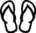 Boys, Flip Flops, stick people, vinyl decal sticker
