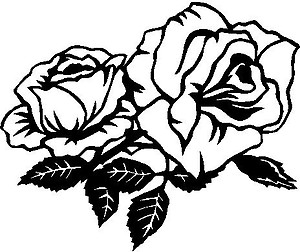 Rose, Two roses, Vinyl cut decal