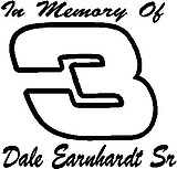 In Memory Of Dale Earnhardt, 3, Vinyl cut decal