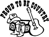 Proud to be country, Guitar, boots, hat, Vinyl cut decal