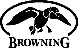 Browning Logo, with a duck, Vinyl cut decal