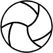 Vollyball, Vinyl cut decal