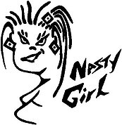 Nasty girl, Vinyl decal sticker