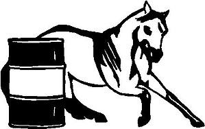Barrel and a Horse, Vinyl cut decal