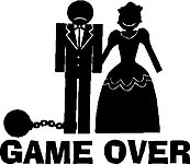 Game Over, Ball and Chain, Vinyl cut decal