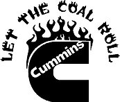 Cummins, Let the coal roll, Vinyl decal sticker
