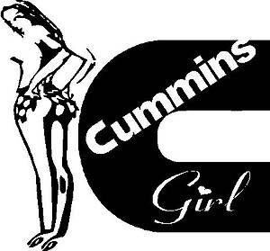 Cummins Girl, Vinyl decal sticker