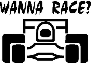 Wanna Race?, Vinyl decal sticker