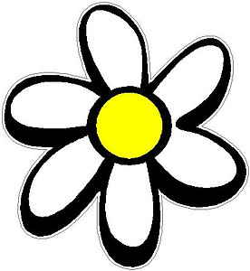 Daisy, Full color Vinyl decal sticker