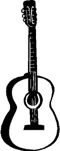Guitar, Vinyl decal sticker
