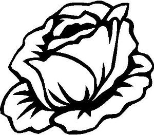 Rose, Vinyl decal sticker