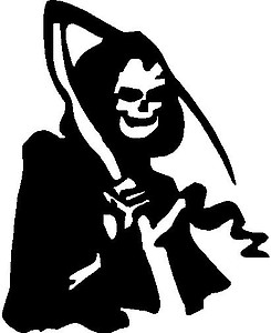 Grim reaper Vinyl decal sticker