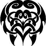 Tribal Design, Vinyl cut decal
