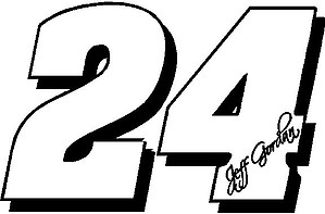 24 Jeff Gordan, Vinyl decal sticker