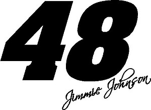 48 Jimmie Johnson, Vinyl cut decal