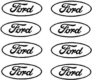 Little Ford Logo, 8ea, Vinyl decal sticker