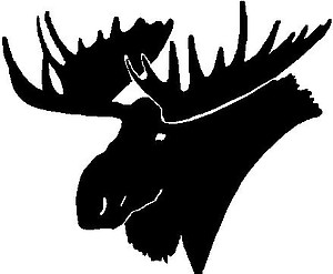 Moose Head, Vinyl cut decal