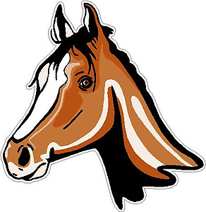 Horse Head, Full color decal