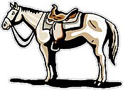 Horse with Saddle, Full color decal