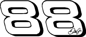 88, Dale Jr, Vinyl decal Sticker