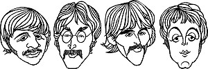 Beatles Faces, Vinyl decal sticker