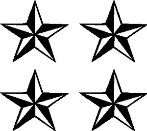 Nautical Stars, Vinyl decal sticker